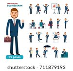 ready to use character creation ... | Shutterstock .eps vector #711879193