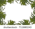 blank frame background with... | Shutterstock . vector #711880243