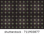 border indian floral paisley... | Shutterstock . vector #711903877