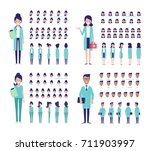 team of medical workers... | Shutterstock .eps vector #711903997