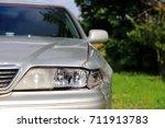 damaged car. car accident | Shutterstock . vector #711913783