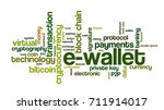 word cloud related to bitcoin ... | Shutterstock .eps vector #711914017