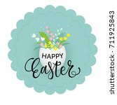 vector illustration of easter... | Shutterstock .eps vector #711925843