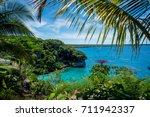 cliffs of jokin  lifou  new...   Shutterstock . vector #711942337