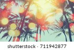 Tropical Palm Tree With...