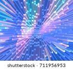 abstract 3d pixel art isometric ... | Shutterstock .eps vector #711956953