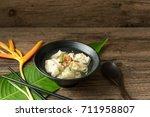 shrimp wonton with braised pork ... | Shutterstock . vector #711958807