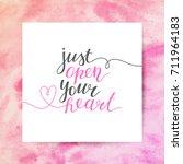 just open your heart ... | Shutterstock .eps vector #711964183