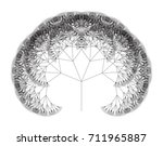 flat vector computer generated  ... | Shutterstock .eps vector #711965887