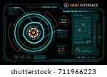 hud interface. panel futuristic | Shutterstock .eps vector #711966223