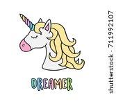 unicorn vector illustration...   Shutterstock .eps vector #711992107
