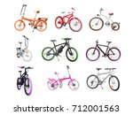 different bikes collection. set ...   Shutterstock . vector #712001563