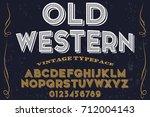 font script typeface vector... | Shutterstock .eps vector #712004143