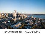 Aerial Panorama Of Seattle Cit...