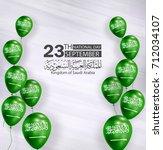 saudi arabia national day in... | Shutterstock .eps vector #712034107