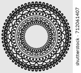 lacy mandala. delicate round... | Shutterstock .eps vector #712061407