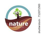 nature logo template | Shutterstock .eps vector #712071583