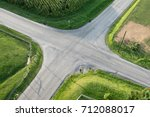 An Aerial View Of A Road...