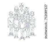 young friends cartoon | Shutterstock .eps vector #712089127