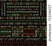 creative ethnic style vector... | Shutterstock .eps vector #712136227