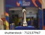 Small photo of The AFC Futsal Club Championship trophy during AFC FUTSAL CLUB CHAMPIONSHIP 2017 Match Bluewave Chonburi and Sanaye Giti Pasand at Phu tho Stadium on July 30,2017 in Vietnam.