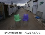 scenery of refugee camps  | Shutterstock . vector #712172773