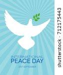 international day of peace ... | Shutterstock .eps vector #712175443