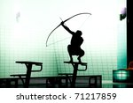 black silhoutte of archer | Shutterstock . vector #71217859