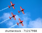 Four Airplanes In Formation On...