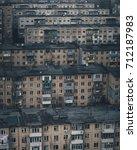 dormitory buildings in a...   Shutterstock . vector #712187983