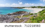beautiful white sand beach with ... | Shutterstock . vector #712218583