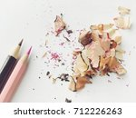 color pencils on white... | Shutterstock . vector #712226263
