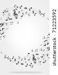 music notes background | Shutterstock .eps vector #71223592