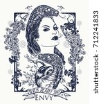 envy. seven deadly sins tattoo... | Shutterstock .eps vector #712241833