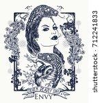 envy. seven deadly sins tattoo... | Shutterstock .eps vector #712241833