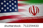 american and iranian flag ... | Shutterstock . vector #712254433