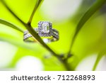 wedding rings for the bride... | Shutterstock . vector #712268893