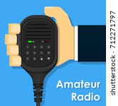holder mobile speaker mic radio ... | Shutterstock .eps vector #712271797