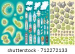 vector set. summer vacation.... | Shutterstock .eps vector #712272133