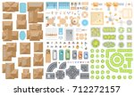 set of landscape elements.... | Shutterstock .eps vector #712272157