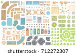 set of cityscape. elements of... | Shutterstock .eps vector #712272307