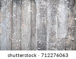 christmas background   old wood ... | Shutterstock . vector #712276063