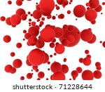 Abstract Red Balls Background