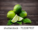 lime juice with lime slices on