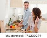 beautiful woman looking at her... | Shutterstock . vector #71230279