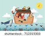 Noah Ark Vector Cute Animals...