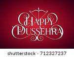 white text calligraphic... | Shutterstock .eps vector #712327237