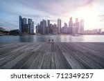 beautiful sunset in singapore  | Shutterstock . vector #712349257