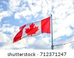 Waving Flag Canada Under The...