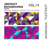simple geometric backgrounds... | Shutterstock .eps vector #712372417